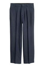 Pantaloni ampi in misto lino - Blu scuro -  | H&M IT 2