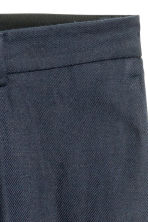 Pantaloni ampi in misto lino - Blu scuro -  | H&M IT 4