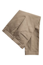 Suit trousers with turn-ups - Dark beige - Men | H&M CN 3