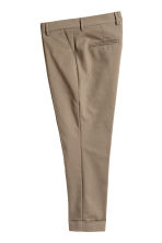 Suit trousers with turn-ups - Dark beige - Men | H&M CN 2