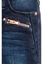 Skinny Fit Biker Jeans - Dark denim blue - Kids | H&M CN 5