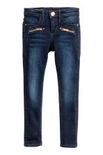 Skinny Fit Biker Jeans - Dark denim blue - Kids | H&M CN 2