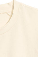 T-shirt with a nepped texture - Light beige - Men | H&M CN 3