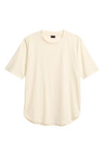 T-shirt with a nepped texture - Light beige - Men | H&M CN 2