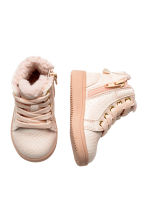 Pile-lined hi-top trainers - Powder pink - Kids | H&M CN 2