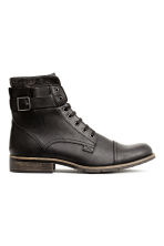 Boots with a double shaft - Black - Men | H&M CN 1