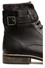 Boots with a double shaft - Black - Men | H&M CN 4