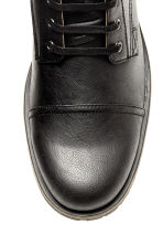 Boots with a double shaft - Black - Men | H&M CN 3