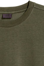 Wide T-shirt - Dark khaki green - Men | H&M CN 3