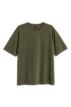 Wide T-shirt - Dark khaki green - Men | H&M CN 2
