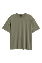 Wide T-shirt - Khaki green - Men | H&M CN 2