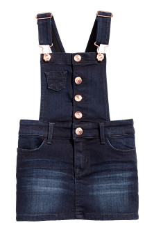 Falda peto en denim