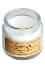 Candela profumata in vasetto - Vetro trasparente/Cotton - HOME | H&M IT 2
