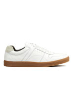 Leather trainers - White - Men | H&M IE 2