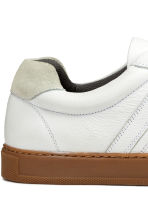 Leather trainers - White - Men | H&M IE 5