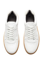 Leather trainers - White - Men | H&M IE 3