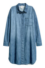 Oversized denim shirt - Denim blue - Ladies | H&M CN 2