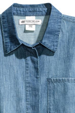 Oversized denim shirt - Denim blue - Ladies | H&M CN 3