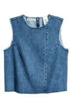 Top sans manches en denim - Bleu denim - FEMME | H&M FR 2