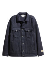 Wool-blend jacket - Dark blue - Ladies | H&M CN 2