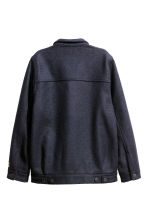 Wool-blend jacket - Dark blue - Ladies | H&M CN 3