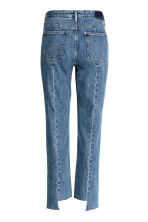 Straight High Ankle Jeans - 牛仔蓝 - Ladies | H&M CN 3
