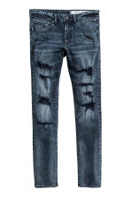 Tech Stretch Slim Low Jeans - Dark denim blue - Men | H&M CN 2