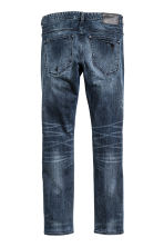 Tech Stretch Slim Low Jeans - Dark denim blue - Men | H&M CN 3