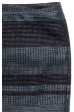 Jacquard-weave skirt - Dark blue/Patterned - Ladies | H&M CN 4