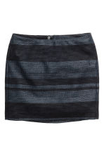 Jacquard-weave skirt - Dark blue/Patterned - Ladies | H&M CN 2