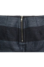 Jacquard-weave skirt - Dark blue/Patterned - Ladies | H&M CN 3
