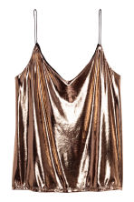 V-neck strappy top - Bronze - Ladies | H&M CN 2
