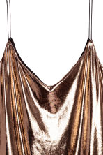 V-neck strappy top - Bronze - Ladies | H&M CN 3