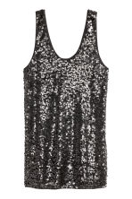 Sequined vest top - Black -  | H&M CN 2