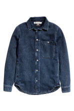Denim shirt - Dark denim blue - Men | H&M CN 2
