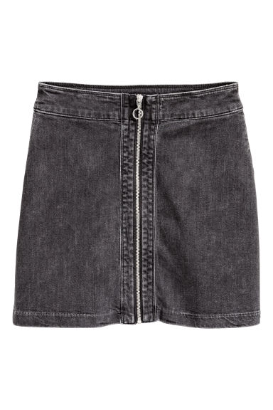 Denim skirt - Dark grey - Ladies | H&M CN
