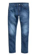 Slim Tapered Selvedge Jeans - 深牛仔蓝 - Men | H&M CN 2
