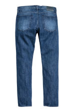 Slim Tapered Selvedge Jeans - 深牛仔蓝 - Men | H&M CN 3