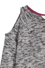 Cold shoulder jumper - Dark grey marl - Kids | H&M CN 4