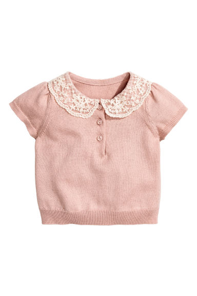 Fine-knit jumper - Powder pink -  | H&M CN 1
