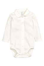 Bodysuit with a collar - White - Kids | H&M CN 1