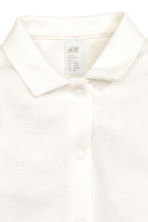 Bodysuit with a collar - White - Kids | H&M CN 2
