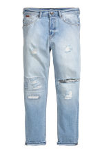 Tapered Low Jeans - 浅牛仔蓝 - 男士 | H&M CN 2
