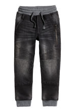 Joggers in denim - Nero Washed out - BAMBINO | H&M IT 2