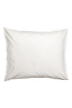 Washed cotton pillowcase - White - Home All | H&M CN 2
