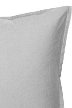 Washed cotton pillowcase - Grey - Home All | H&M CN 2