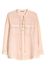 H&M+ Laced chiffon blouse - Powder beige - Ladies | H&M CN 2