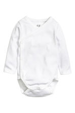 2-pack long-sleeved bodysuits - White - Kids | H&M 2
