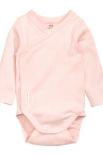 2-pack long-sleeved bodysuits - Light pink/Spotted - Kids | H&M 3