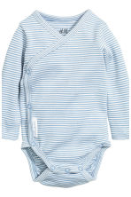 2-pack long-sleeved bodysuits - Blue - Kids | H&M 3